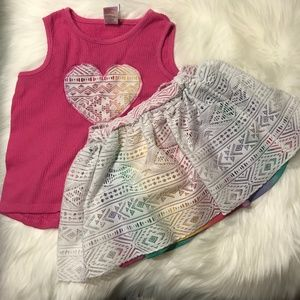 Healthtex rainbow summer outfit 5T girl